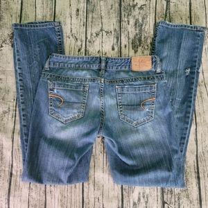 Vintage American Eagle Straight 77 Distressed Jean